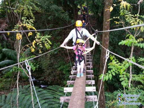 Zipline suspension bridge Hawaii